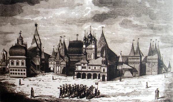 Дворец Алексея Михайловича старый рисунок