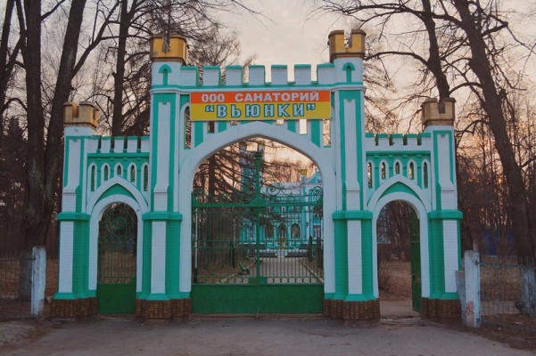 Главные ворота усадьбы