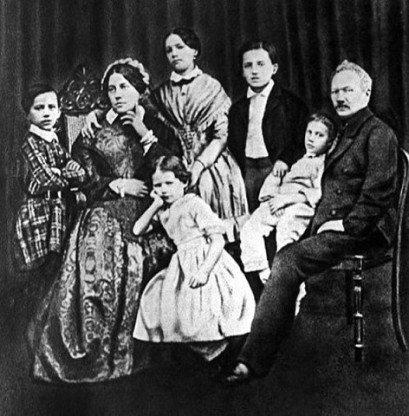 Семья Чайковских 1848 год.
