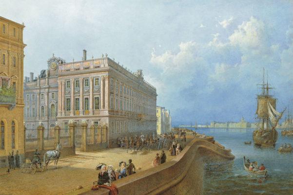 Старые рисунки мраморного дворца