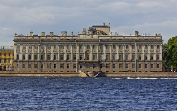 Мраморный дворец вид с Невы