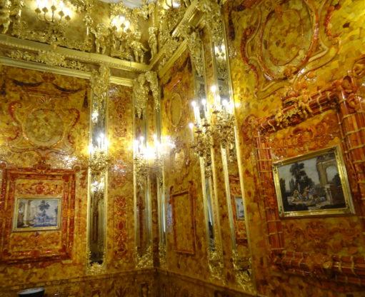 """Фрагмент """"Янтарной комнаты"""" Екатерининский дворец"""
