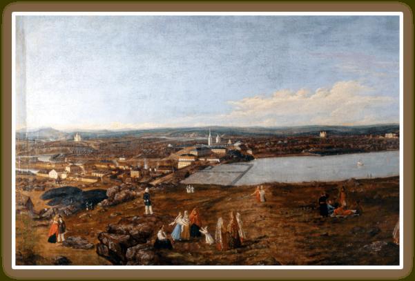 «Гулянье на Лисьей горе» автор Исаак Фёдорович