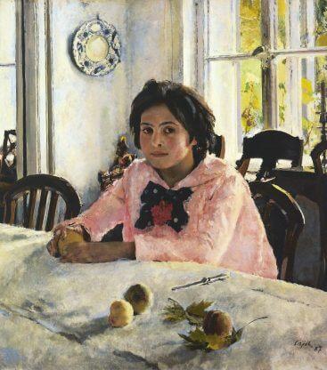Портрете Серова «Девочка с персиками»