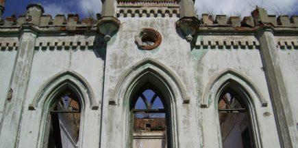 Разруха в усадьбе К.Н. Пасхалова, «Колосовский замок» (1890-е). п. Колосово, Тульская обл.