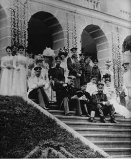 Семья Романовых в Ропше 22 июля 1898
