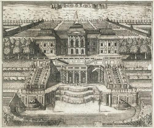 Старый рисунок дворца